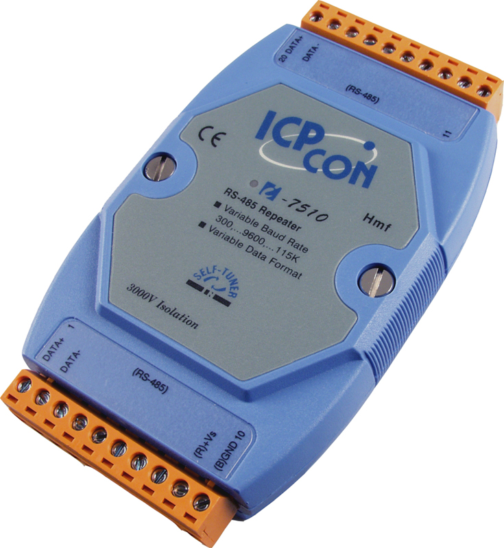I-7510 | Isolated RS-485 High Speed Repeater. Extends RS-485 signal ...